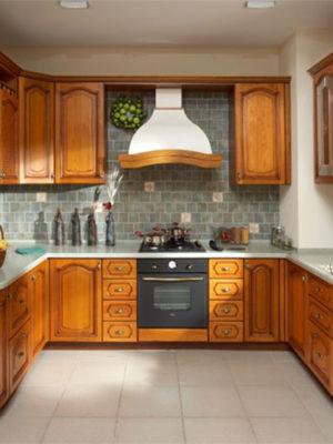 Кухня фасады из натурального дерева(массив)