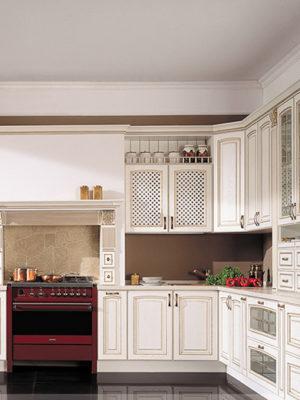 Кухня фасады из патинированного МДФ