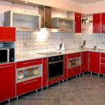 Кухня пластик в алюминиевой рамке