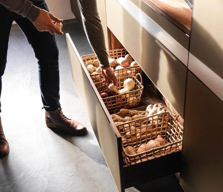 выдвижной ящик для овощей
