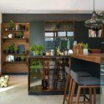 кухня массив, стекло и ЛДСП