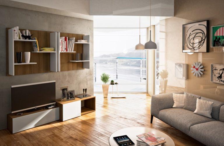 гостиная в стиле hi-tech